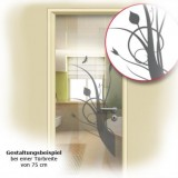 Eine Sichtschutzfoie an der Küchentür eingesetzt.