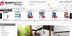 Der onlineshop WANDWORTE, der weit über die Grenzen von Bremen bekannt ist.