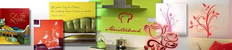 Schauen Sie auch mal in unserem Onlineshop auf www.WANDWORTE-Shop.de. Dort haben wir schon eine Menge Anregungen.....